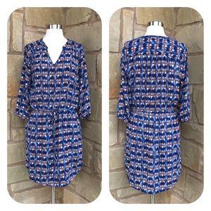 Skies are Blue Stitch Fix Drawstring Shirt Dress M